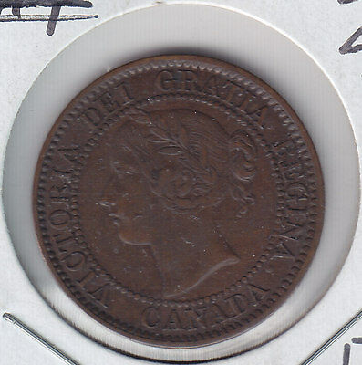 1859,wide 9/8 ,Canada large cent  Grade XF40