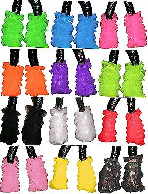 Uv Neon Dance Tutu Fluffy Legwarmer Leg Warmer Halloween Christmas Party