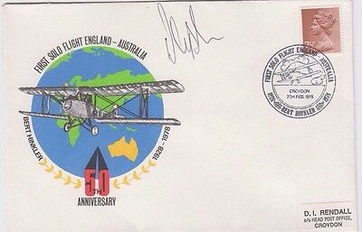 Stamp 1978 England 50th anniversary 1st solo flight England to Australia cover