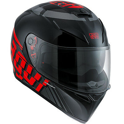 AGV K3 SV MYTH Full-Face Motorcycle Helmet (Black/Red) L (Large)
