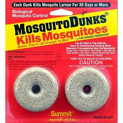 Summit Chemical Company Mosquito Dunks For Organic Production USA Made - 2 Pack