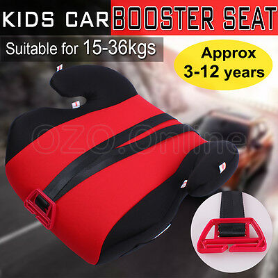 Kids Car Booster Seat Safe Sturdy Baby Children Child Fit 3 To 12 Years Red AUS