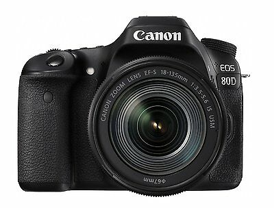 Canon Digital SLR Camera EOS 80D Lens Kit EF-S18-135mm F3.5-5.6 IS USM New