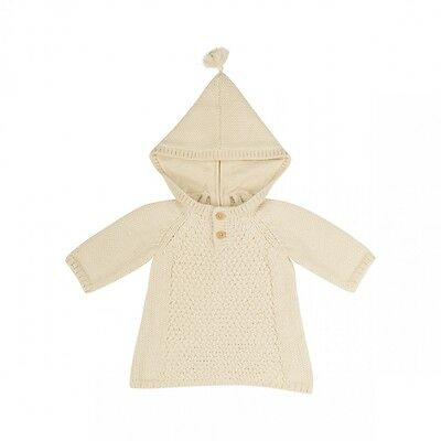 Bonpoint Baby Alpaca Hooded Knit Burnous Dress Jumper 2 Years