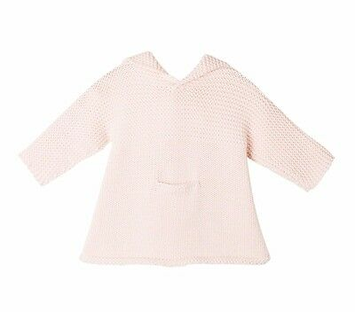 Bonpoint Baby Pink Hooded Knit Burnous Dress Jumper 18 Months