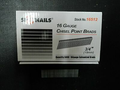 "16 Gauge 3/4"" Inch Finish Nails Straight Galvanized Spotnails 16512 (30,000)"