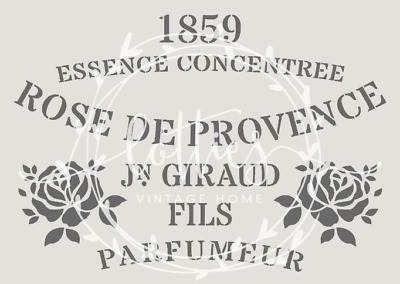 ❤️ A5 STENCIL ROSE DE PROVENCE  Furniture Vintage French Shabby Chic 190 MYLAR