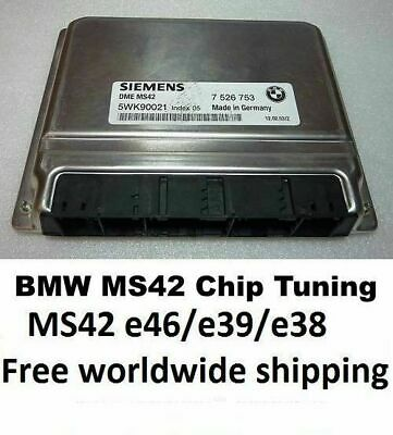 Plug and Play MS42 Chip Tuned ECU, EWS OFF BMW M52 Z3 E46 E39 E38 2.8 2.5 2.0