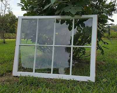 VINTAGE SASH ANTIQUE WOOD WINDOW UNIQUE FRAME PINTEREST WEDDING 8 PANE 36x28
