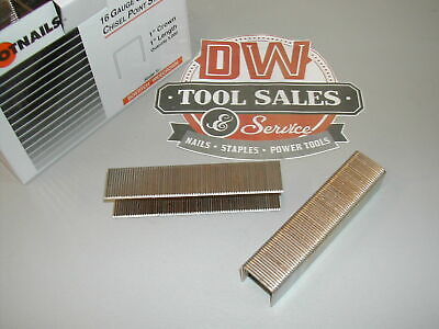 1608pg Wide Crown Staples 1 Inch 16 Gauge Galvanized S2 Bostitch Type (10,000)