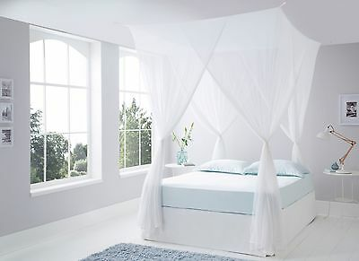Luxurious Top Quality Cotton Box Mosquito Net King Size - Hang With 4 Hooks