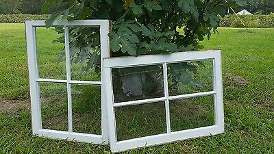 Vintage Sash Antique Wood Window Picture Frame Pinterest Wedding Set 4 Pane