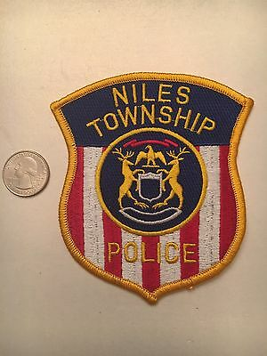 Niles Township Michigan Police Department Patch Mi