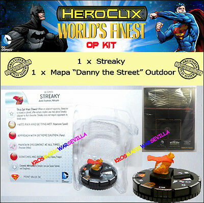 DC HEROCLIX WORLD'S FINEST RELEASE DAY OP KIT - Streaky + Danny the Streep Map
