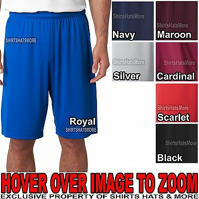 "Mens Moisture Wicking Dri Fit Athletic Shorts Snag Resist 9"" Inseam S -2XL NEW!"
