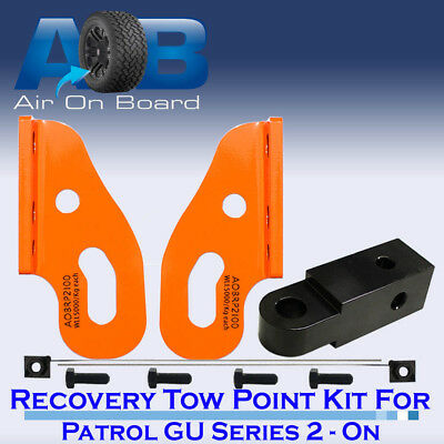 Recovery Tow Points Kit Nissan Patrol GU Series 2,3,4,5 with rear Recovery Hitch