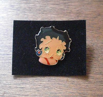 VTG STYLE BETTY BOOP LAPEL PIN CLASSIC POSE  HEAD SHOT RED DRESS by SYD HAP