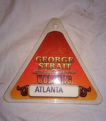 George Strait Laminated pass  working pass all access country music festival