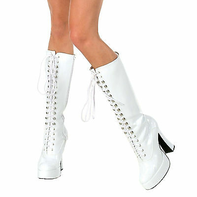 Easy (White) Adult Womens Ladies Boots Fancy Dress Up Costume Accessory,