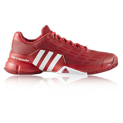 Adidas Barricade 2016 Mens Red Tennis Court Sports Shoes Trainers Pumps