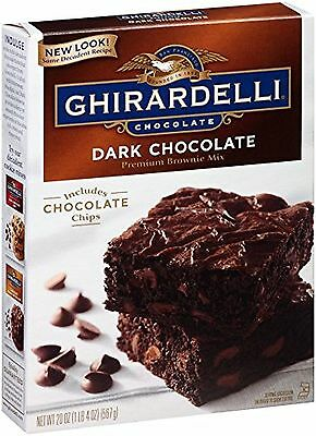 Ghirardelli Dark Chocolate Brownie Mix, 20-Ounce Boxes (Pack of 4) AOI XCL