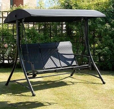 3 Seater Garden Swing Seat Shelter Bench Strong Sturdy Structure Patio Furniture
