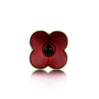 Burgundy Red Poppy Flower Symbolic Brooch Coat Poppies Remembrance Day Pin BR391