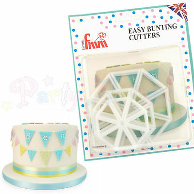 FMM Sugarcraft - Easy Bunting Cutters - Set of 3 - Cake decoration cutter set