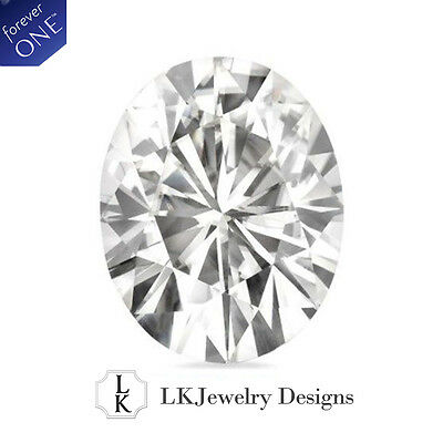 1.50 CT MOISSANITE FOREVER ONE OVAL LOOSE STONE - 8x6MM