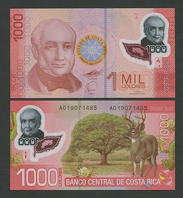 COSTA RICA - 1000 colones  POLYMER  2009  P274  Uncirculated  ( Banknotes )