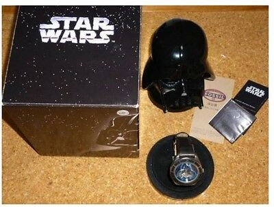 1997 FOSSIL STAR WARS watch Darth Vader Worldwide limited 10000 w/Serial number