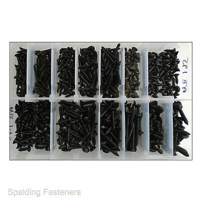 Assorted Imperial Zinc Black Raised Countersunk Pozi Self Tapping Screws