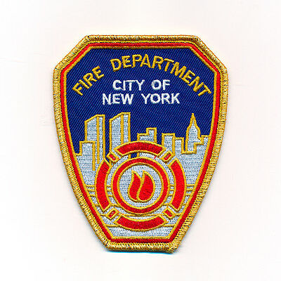40 x 50 mm Fire Department New York FDNY USA Patches Aufbügler Aufnäher 0974 A