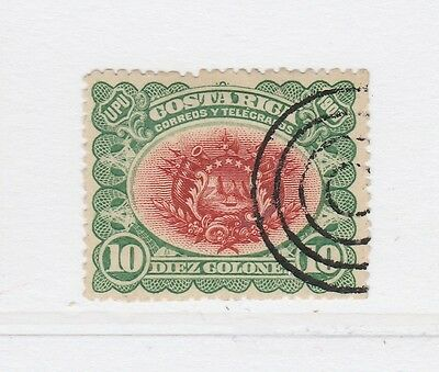 A2P49 COSTA RICA 1901 10col USED