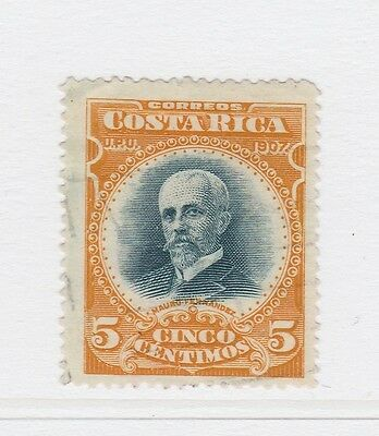 A2P49 COSTA RICA 1907 5c PERF 14 USED
