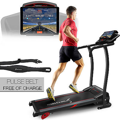 Sportstech F15 treadmill with fitness app control 3 HP DC 12 KM/H foldable