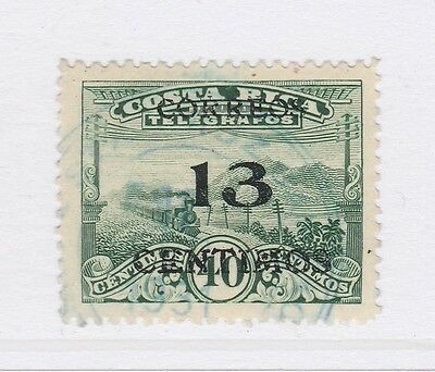 A2P49 COSTA RICA 1929 SURCH 13c ON 40c LITHO USED