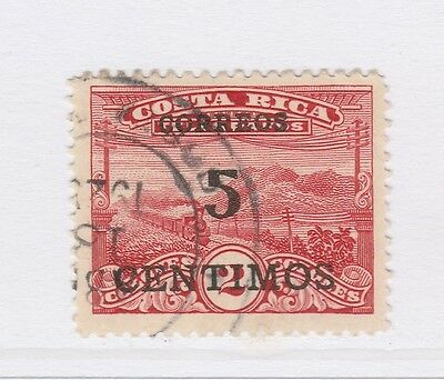 A2P49 COSTA RICA 1929 SURCH 5c ON 2col TYPE I USED