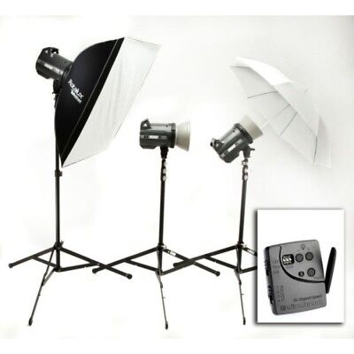 Kit completo 3 flashes de estudio BRX500 Elinchrom
