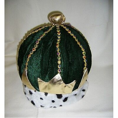Fabric Full Crown Hat in Green, Fancy Dress 11716G