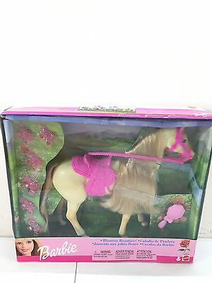 Barbie Horse 2002 Mattel Blossom Beauties Cream Horse Pink Saddle Blonde Hair
