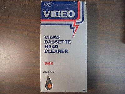 Jasco Video Cassette Head Cleaner VHS Liquid Type