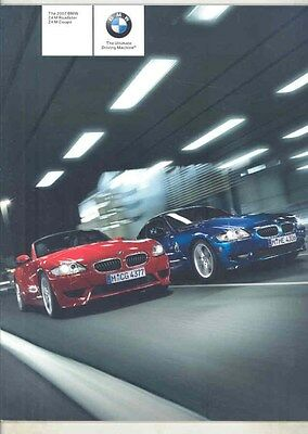 2007 BMW Z4 M Roadster Coupe Prestige Brochure ww2795