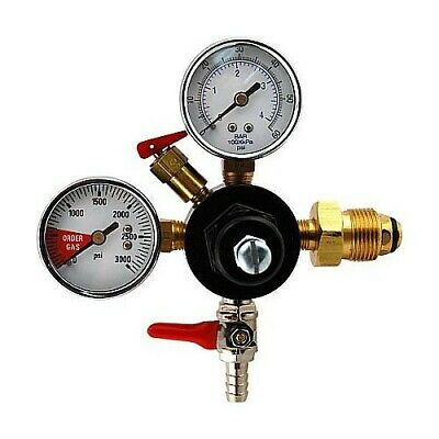 "Double Gauge Nitrogen Regulator with 5/16"" Hose Barb - Nitro Coffee and Stouts"