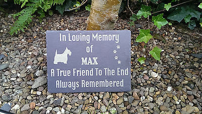 Personalised Laser Engraved Slate Pet Memorial Marker Dog Cat Any Other Pet