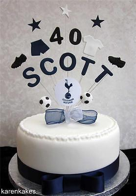 Personalised Tottenham/spurs Football Birthday Cake Topper Any Name And Age