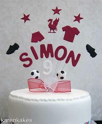 Personalised Liverpool Football Birthday Cake Topper Any Name And Age