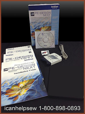 NEW Brother PE Design Next Embroidery Software Digitizing Version 9 + Train DVD