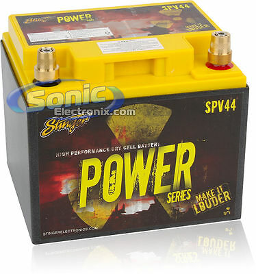 NEW! Stinger SPV44 660 Amp 44 AH Dry Power Cell Car Battery for up to 1320W