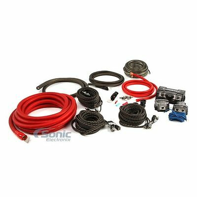 Rockford Fosgate RFK1D Complete Dual Amp 1/0 AWG PC-OFC Amplifier Wiring Kit